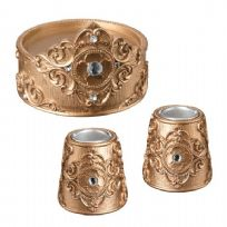 Gold Candle Holder Set